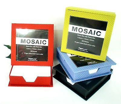 Grandluxe Mosaic Memo Box with Photo Slot Available in 4 Colours
