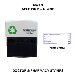 MaxStamp 3 Doctor Self Inking Stamp
