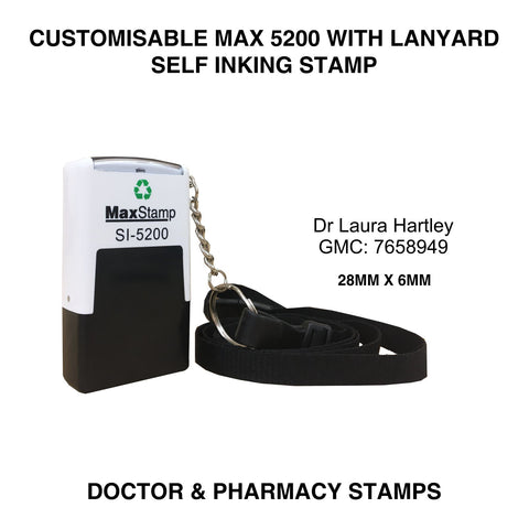 MaxStamp 5200 Doctor Self Inking Stamp