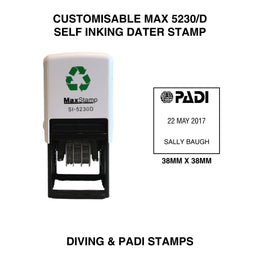 MaxStamp 5230D Dater Customisable Diving Stamp