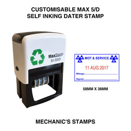 MaxStamp 5D Mechanics Dater Self Inking Stamp
