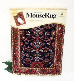 MouseRug Mouse Mat with Deep Blue Bergamo Pattern