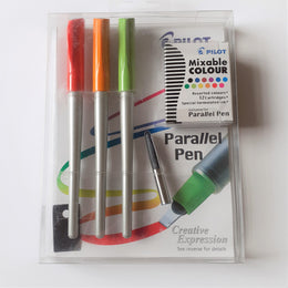 Pilot Parallel Pen Calligraphy Set 1x1.5 1x2.4 1x3.8 Pens + 12 Cartridges