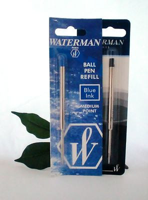 Waterman Ballpoint Pen Refill Medium in Black S0553640 or Blue S0553660