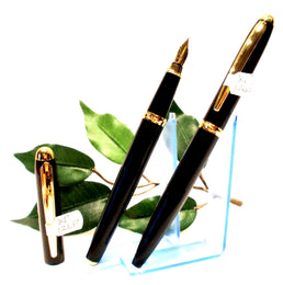 X-Pen Classic Fountain Pen and Ballpoint Pen Set in Black with Gold Detail 126