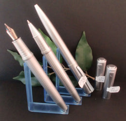 X-Pen Concerto Fountain Pen, Rollerball and Ballpoint Pen Set in Chrome 330A
