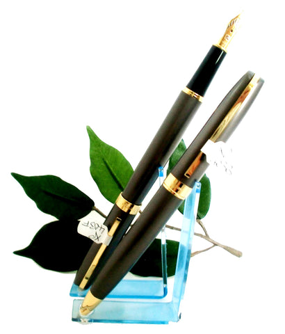 X-Pen Legend Fountain Pen, Ballpoint or Both in Gunmetal Grey with Gold Detail 403B