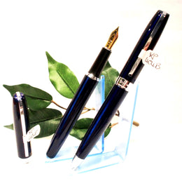 X-Pen Legend Fountain Pen and Ballpoint in Dark Navy Blue with Gold Detail 404FPBP