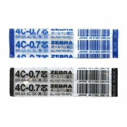 Zebra 4C Ballpoint Refill in Blue or Black Ink Pack of 2 BR-8A-4C Blue or Black Mini Expandz T3 Sharbo