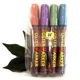Artline Metallic Poster Markers in 4 Assorted Colours 4mm Bullet Tip EPP-4