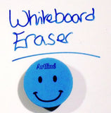 Artline Smiley Face Magnetic Dry Wipe Eraser for Whiteboards Available in 6 Colours