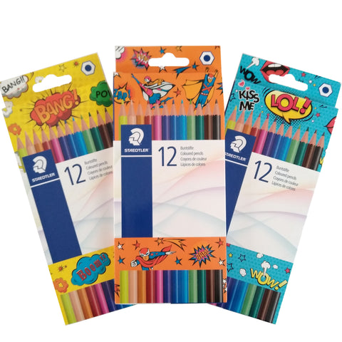Staedtler pack of 12 colouring pencils - comic edition