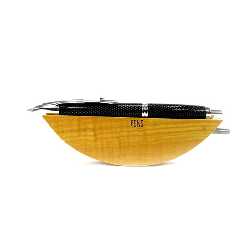 "Pilot Capless ""Vanishing Point"" Retractable Fountain Pen CARBONESQUE BLACK/CHROME Fine"