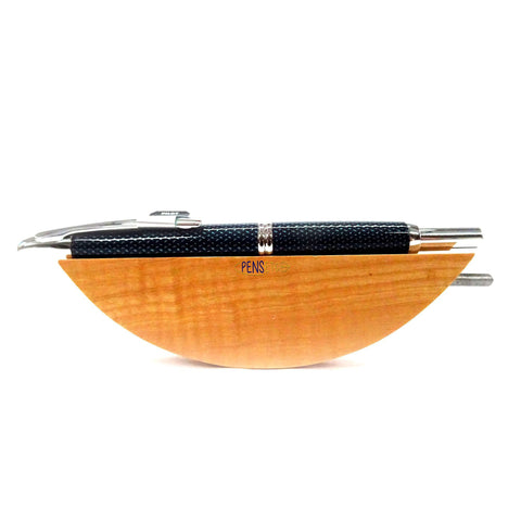 Pilot Capless Vanishing Point Retractable Fountain Pen Carbonesque Blue/Chrome