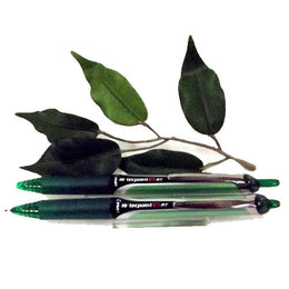 Pilot Hi-Tecpoint V5 Retractable Needlepoint Pen Fine Tip in Green x2