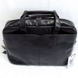 Quindici Leather 1 Compartment Laptop Briefcase Bag Black or Brown Veg Tan QVB 507