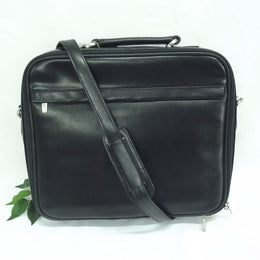 Quindici Leather 15.6 Inch Laptop Bag Black QSB 715