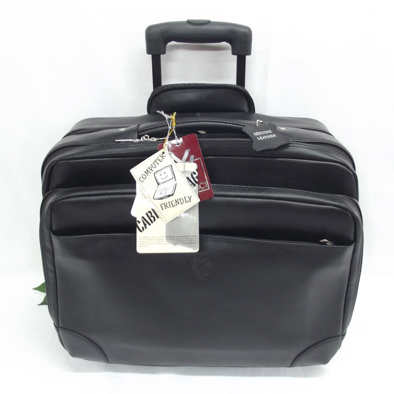 74d821716 Quindici Leather Business Overnight Trolley Bag Hand Luggage Size with –  Pens Etc