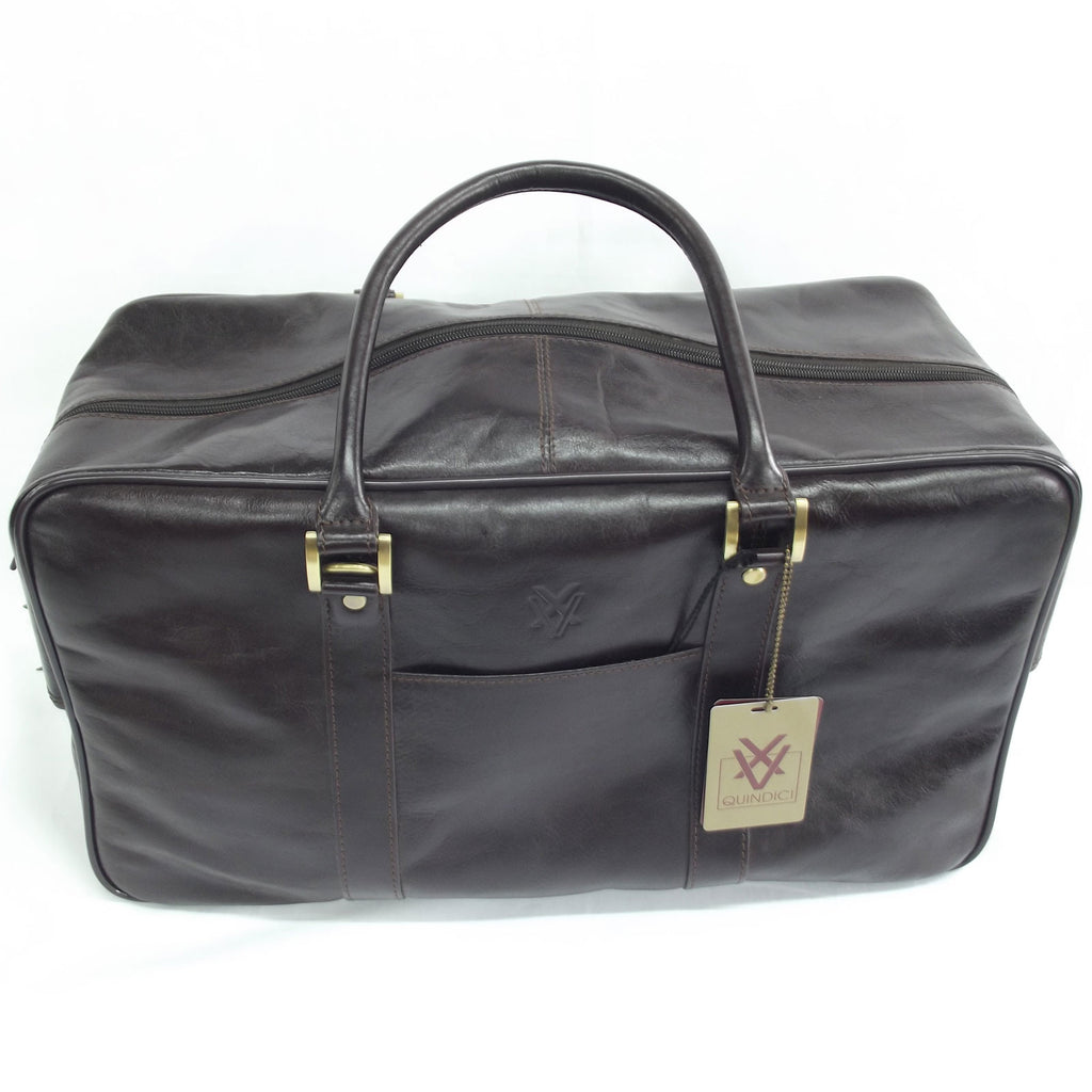 Quindici Square Leather Holdall in Dark Brown Vegetable Tan for Men   –  Pens Etc 5faa66abc2