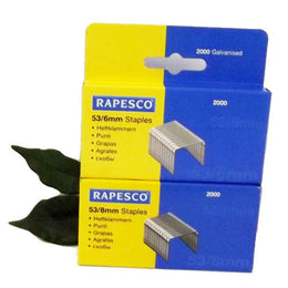 Rapesco 53 Tacker Staples x2000 53/6 53/8 for Tacker 853
