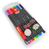 STABILO - Pen 68 Fibre Tip Felt Pens - Limited Black Barrel Edition - 10 Pack