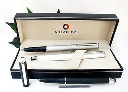 Sheaffer Stylus Ballpoint Pen in Black, Silver of White Twin function Capped pen