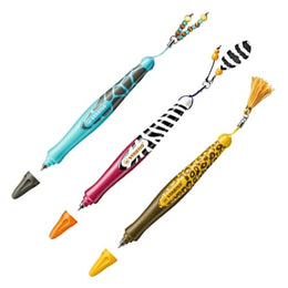 Stabilo 's move Wild Range pen Tassle, Beads or Feather Giraffe, Zebra, Leopard