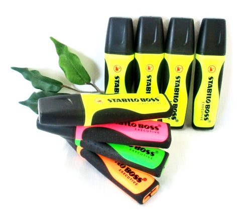 Stabilo Boss Executive Highlighter IN Yellow, Green, Pink, Orange