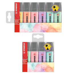 Stabilo Boss Original Pastel Highlighters 4 or 6 Pack