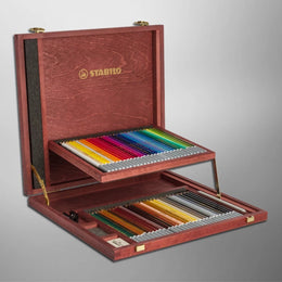 Stabilo CarbOthello Chalk Pastel Pencils x60 in Wooden Box