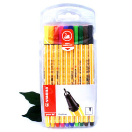 Stabilo Point 88 Fineliner Pens 10 Pack in Assorted Colours in Packet 8810 Best Seller