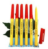 Staedtler 430-F Fine Stick Pen x6 0.25mm Writing Tip in Black, Blue, Red or Green
