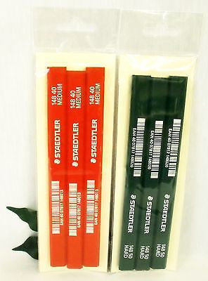 Staedtler Carpenters Pencils 3 x Medium 148 40 or 3 x Hard 148 50 or 3 of each
