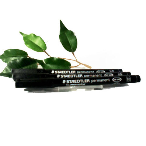 Staedtler Lumocolor 317 OHP Pen Medium Black x3 Pens Permanent Pen 1.0mm