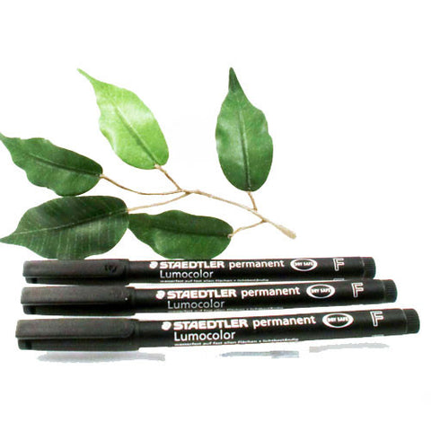 Staedtler Lumocolor 318 OHP Pen Fine Black x3 Pens Permanent Pen 0.6mm