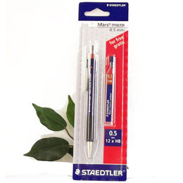 Staedtler Mars Micro Mechanical Pencil 0.5mm + Free Tube HB Leads
