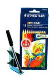 Staedtler Noris Club 144 Colouring Pencils x 12 Assorted Colours NC12 + Free Pen