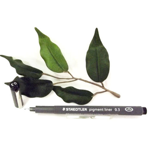 Staedtler Pigment Liner 0.3mm Black Indelible Ink 308