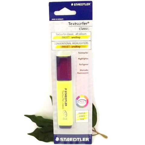 Staedtler Textsurfer Yellow Highlighter x 1 Blister Packed Back to School