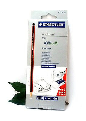 Staedtler Tradition Sketching and Drawing Pencil Set Bonus Pack 2 Free Pencils