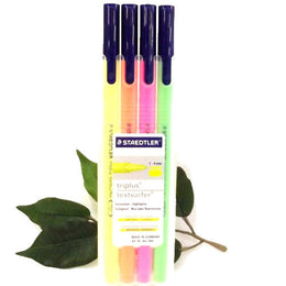 Staedtler Triplus Textsurfer Highlighters x4 assorted colours Desktop Box 362SB4