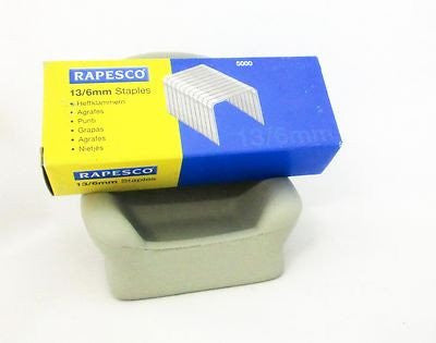 Rapesco Staple No.13 x5000 6mm & 8mm LEG fits Rapid Staplers below & Rexel Titan