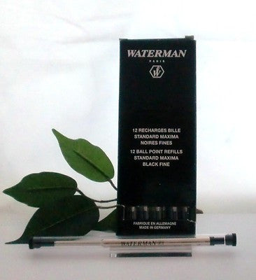Waterman Ball Pen Refill Black Refill Fine S0791010