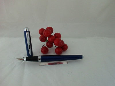 X-Pen Classic Fountain Pen Blue & Chrome 128F