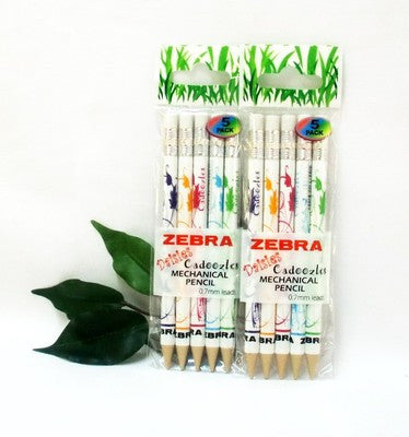Zebra Cadoozle Pencils with Eraser Daisy Prints 2 x5 Packets Party Bag Gift