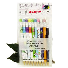 Zebra Cadoozle Pencils with Eraser Original Fun Designs x10 Party Bag Favorite