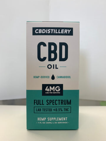 CBDistillery 125mg (4mg/1ml) - 30ml - FULL SPECTRUM