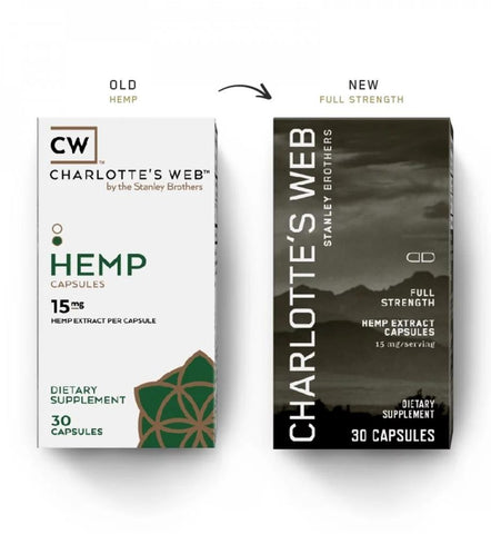 Charlotte's Web Full Stength CBD Capsules - 30 Day Supply - 15mg