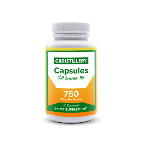 CBDistillery 25mg Full Spectrum Capsules - 30 Day Count