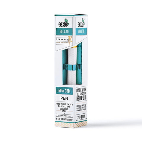 CBDfx Disposable Vape Pen - 50mg CBD - TERPINE GELATO FLAVOUR